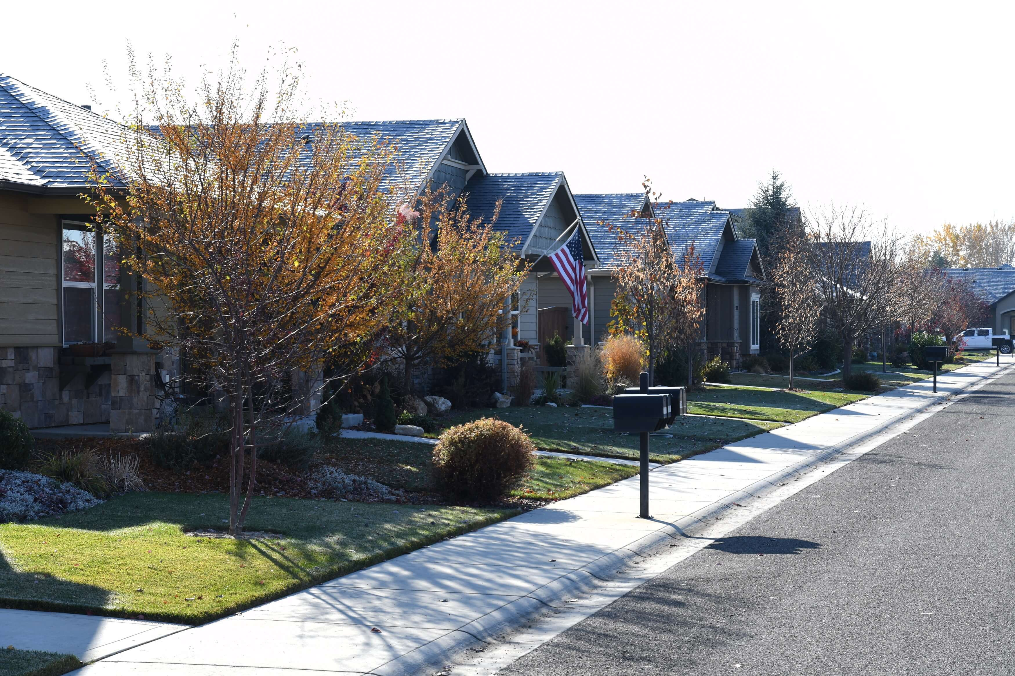 Street view of Boise neighborhood